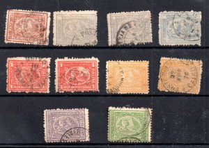 Egypt 1875 Sphynx fine used set to 5PI WS19166