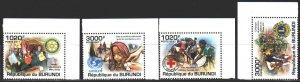 Burundi. 2011. Red Cross, Rotary Club, UNICEF, Lyons Club. MNH.