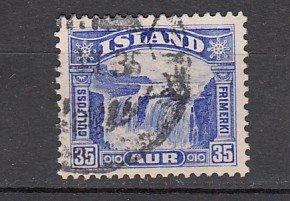 J26390  jlstamps 1931-2 iceland used #172 waterfalls