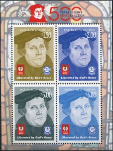 Papua New Guinea. 2017. 500th Anniversary of The Reformation (MNH OG) M/S
