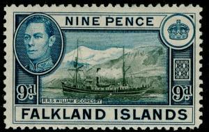 FALKLAND ISLANDS SG157, 9d black & grey-blue, M MINT. Cat £28.