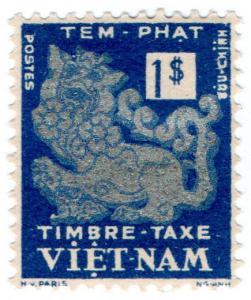 (I.B) France Colonial Postal : Vietnam Postage Due $1