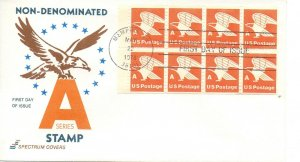 US FDC #1736a A Rate Eagle Pane, Spectrum (7849)