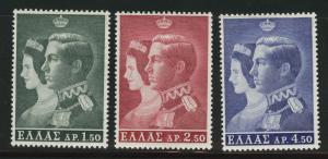 GREECE Scott 803-5 MNH** 1964 stamp set