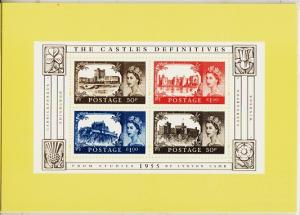 Great Britain. 2005 Castle Definitives. PHQ Cards(5) Unused