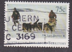 Australian Antarctic Territory # L91, Huskie Sled Team, Used, 1/3 Cat.