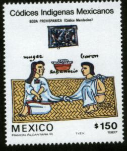 MEXICO 1521, CODEX ILLUSTRATIONS, WEDDING. MINT, NH. F-VF.