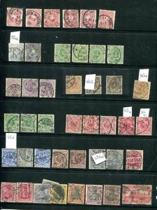 Germany  varieties used F-VF shades/cancels !
