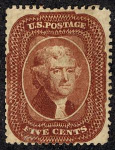 US #28 SCV $60,000.00 VF mint hinged, most likely regummed, still one of the ...
