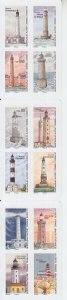 2019 France Lighthouses 12 SA Bklt (Scott NA) MNH
