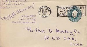 Canada, Postal Stationery, Canada Saskatchewan