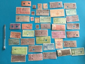 India 41 Vintage Court Fee Revenue stamps R27623