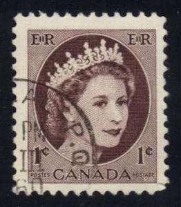 Canada #337 Queen Elizabeth II; Used at Wholesale