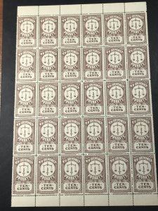 NEW BRUNSWICK # P14a-MINT/NEVER HINGED--PART PANE OF 30---PROBATE STAMP----1934