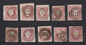 Portugal a small used lot of mainly imperfs with numeral cancel