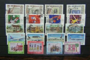 Barbados 1996 Philatelic Olympics Houses Aircraft Unicef sets Used