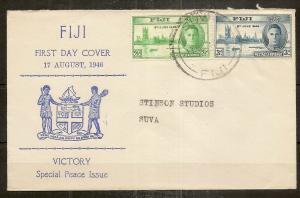 Fiji 1946 Victory FDC