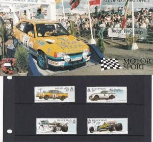Isle of Man P.Office 1988 Motor Sport Mint Never Hinged Stamps Booklet Rf 28554