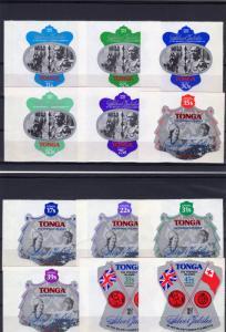 Tonga 1977 Sc#392/396 C209/3 CO117/9 SILVER JUBILEE Set (13) MNH