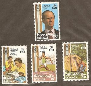 British Virgin Islands Scott # 409-12  Mint never hinged