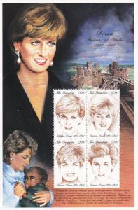 Gambia # 2014-2015, Princess Diana, Mint NH