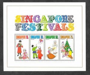 Singapore 141a Mint NH S/S Festivals!