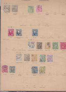 luxembourg stamps page ref 17311