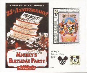 Antigua - 1993 Disney Mickey's Birthday Cartoon - Stamp Sheet #1731