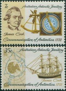 AAT 1972 Sc#L21-L22,SG21-22 Cook Circumnavigation set MNH