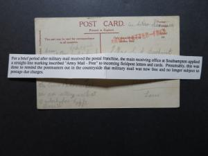 Great Britain - 1914 Scarce Army Letters - Free B.E.F. Card (I) - Z10781
