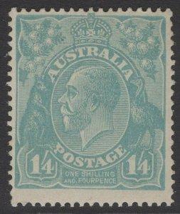 AUSTRALIA SG66 1920 1/4 PALE BLUE MNH
