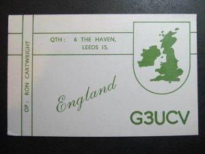 10409 Amateur Radio QSL Card ENGLAND