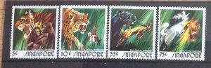 SINGAPORE 1973 ZOO ANIMALS SG225/8 UNMOUNTED  MINT.CAT £6