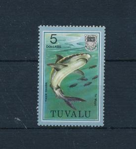 [51977] Tuvalu 1979 Marine life Shark highest value from set MNH light toned