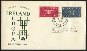 wc062 Ireland Europa Sep. 16, 1963 FDC first day cover