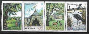 1996 Sweden 2194a Ekoparken Strip of 4 MNH