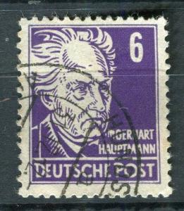 GERMANY; 1952-53 early Portraits issue fine used 6pf. value