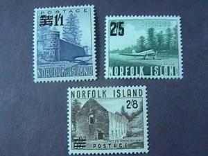 NORFOLK ISLAND # 26-28-MINT/HINGED--COMPLETE SET----QEII----1960