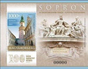 Hungary 2021 MNH Souvenir Sheet Stamps Sopron Referendum First World War I
