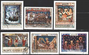 Romania. 1969. 2814-19. Frescoes from Romanian monasteries. USED.