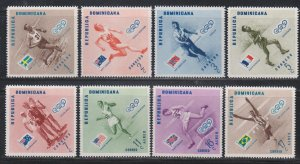 Dominican Republic,  Olympics (SC# 479-483, C100-C102) MNH