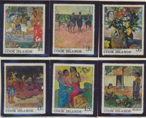 Cook Islands Stamps Scott #221 To 226, Mint Hinged, No Gum, Pulled Perf on #2...