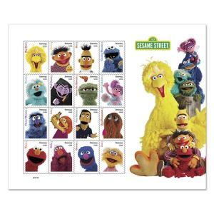 US new issue (mnh sheet of 16) (55¢) Sesame Street characters (2019)