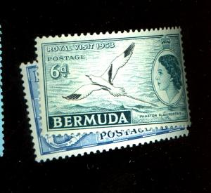 Bermuda #152, 157 MINT F-VF OG NH Cat $13.25