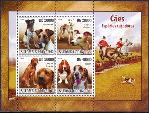 Sao Tome and Principe. 2008. 3659-66. Dogs. MNH.