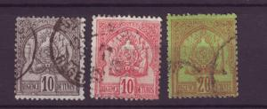 J4838 JLstamps 1888-02 fr.tunisia used #13-4,17 $5.70 arms