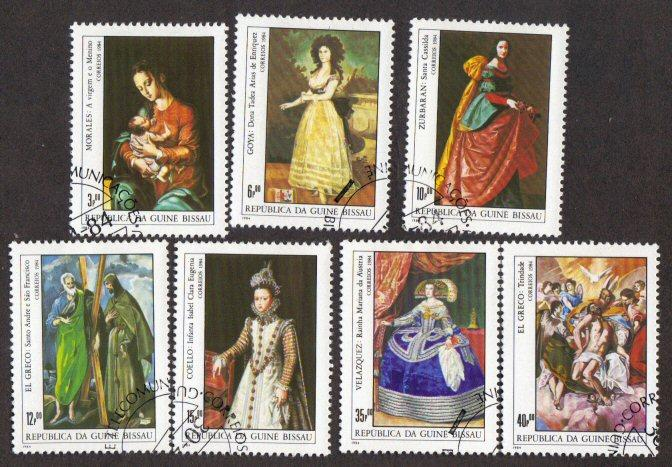 Guinea-Bissau #553-59 CTO paintings cpl