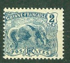 Fr. Guiana # 52  2c Great Anteater  (1) Unused