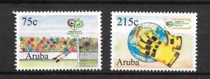 ARUBA MNH SET SC#285-286 2006 WORLD CUP SC$4.25