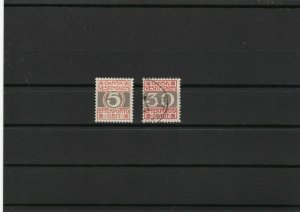 danish west indies postage due no gum and used  stamps ref r9672